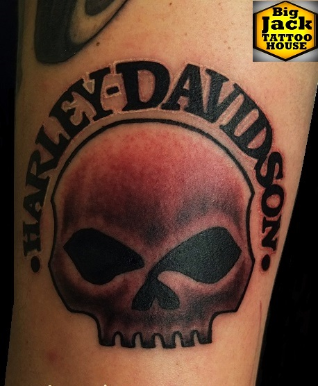 Tattoo Milano BigJackTattooHouse  Harley's Skull