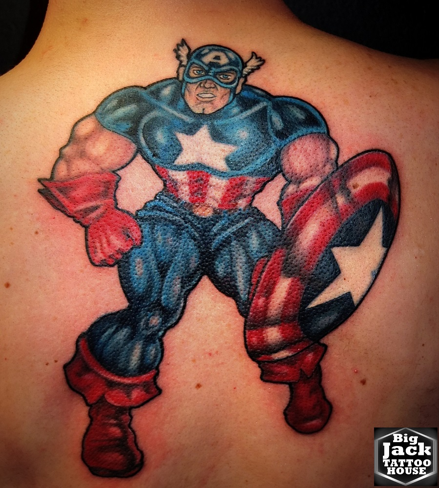 Tattoo Milano Cartoons Tatuaggi Cartoons Capitan America Marvel