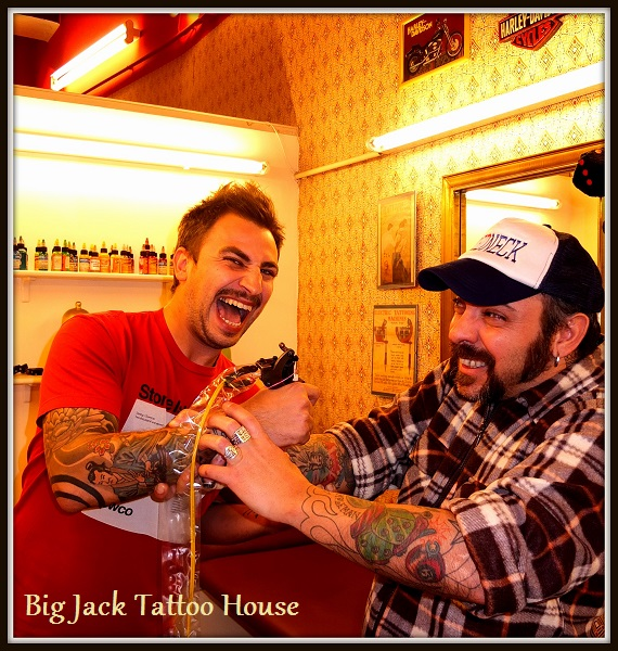 big jack tattoo house galley. Black Bedroom Furniture Sets. Home Design Ideas